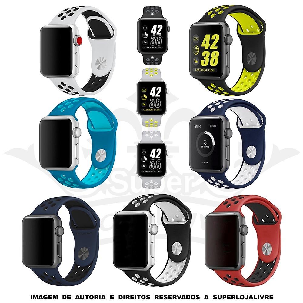4cccbeb6bc1 pulseiras para apple watch nike silicone 42mm   38mm. Carregando zoom.