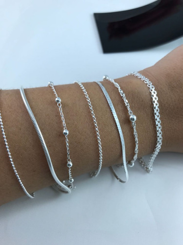 pulseiras prata elo