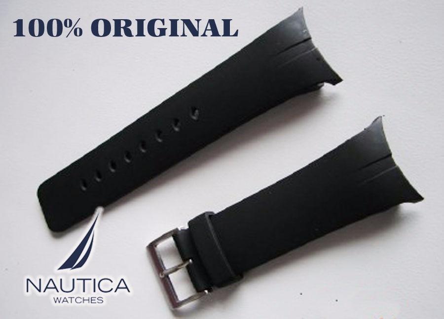 c04180ec48b pulseiras relogio nautica 22mm preta. Carregando zoom.