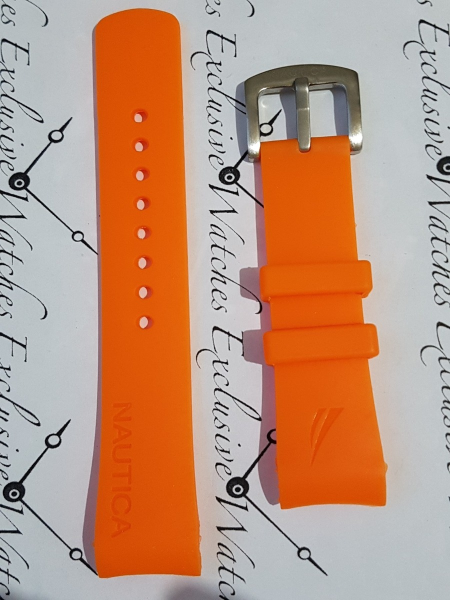 5eb5b939cf2 pulseiras relogio nautica original 22mm laranja. Carregando zoom.