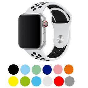 Para Pulseiras Silicone 38404244 Furo Apple Nike Watch Mm xBCode