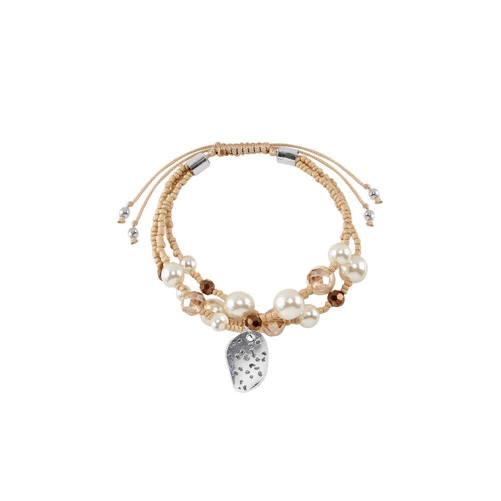 87c0815bf7af pulsera 3 hileras perlas dije cristales fantasía 1383591. Cargando zoom.
