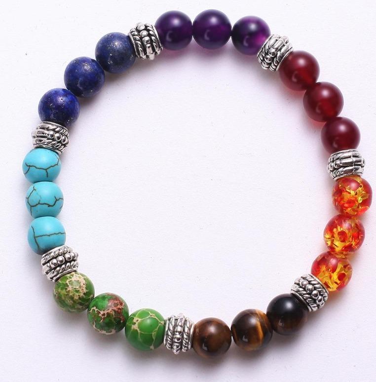 f9d60b24e57d Pulsera 7 Chakras 7 Colores Equilibra Energia Meditacion