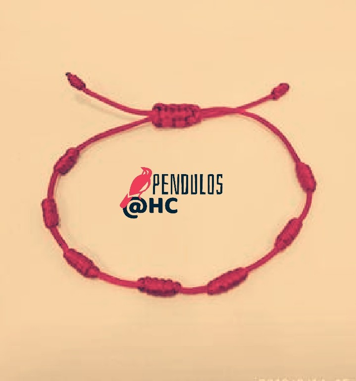 8ea1d87fa48c Pulsera 7 Nudos Amuleto De Protección 2 Piezas Negra Y Roja ...