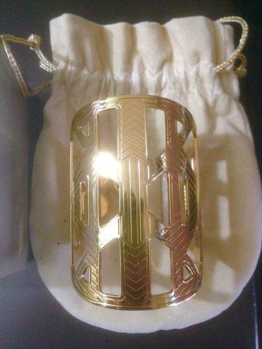 pulsera accesorio elie saab baño de oro. original...