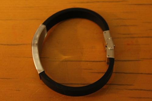 pulsera acero y silicona escuadra y compas mason ajustable