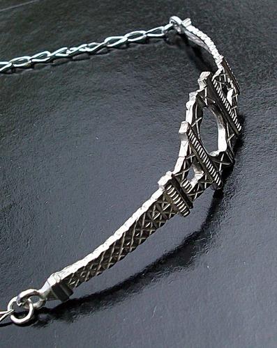 pulsera ajustable doble torre eiffel plata ley autentica