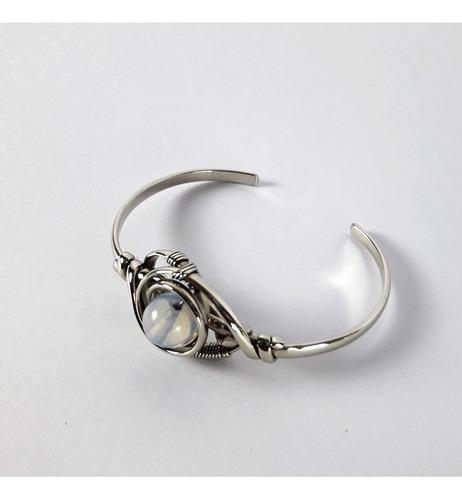 pulsera alpaca - pulsera piedras - brazalete mujer talle 1