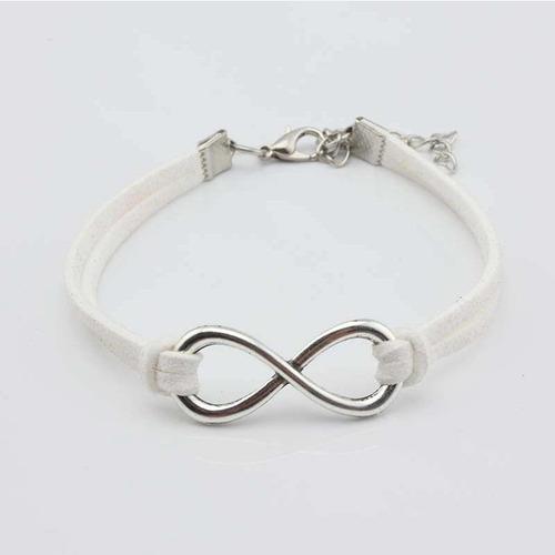 pulsera amor infinito color blanco regalo amor p-130