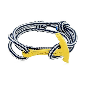 ff209fc0df74 Pulsera Ancla Cuerda Baño Oro 22k Castellamare 1030130260