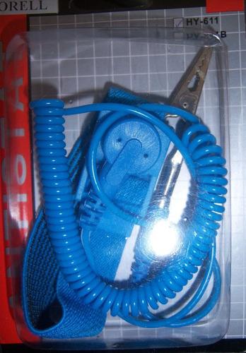 pulsera antiestática extendible lagarto para mantenimientos