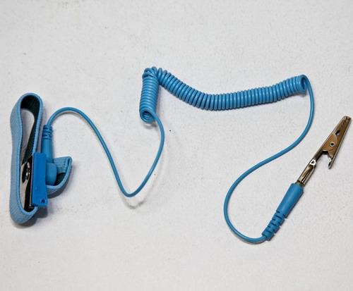 pulsera antiestatica repar electronica pc sin riesgo 1° htec