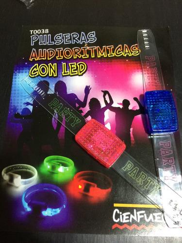 pulsera audioritmica con led x 6 luminosas prende con música