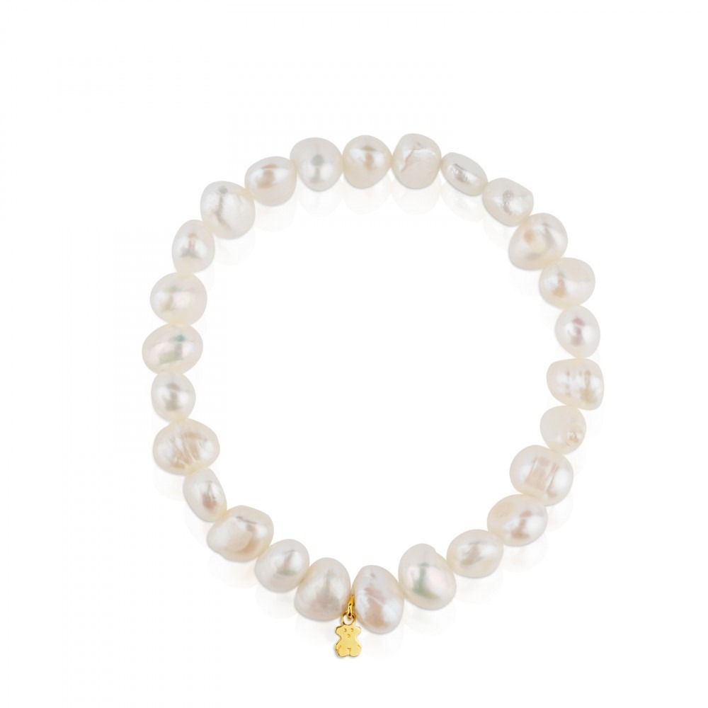 7b17f65f1684 pulsera auténtica tous perlas y oso de oro 18kt. Cargando zoom.