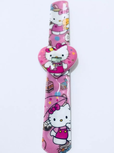 pulsera autoajustable al brazo + cartera hello kitty, niñas