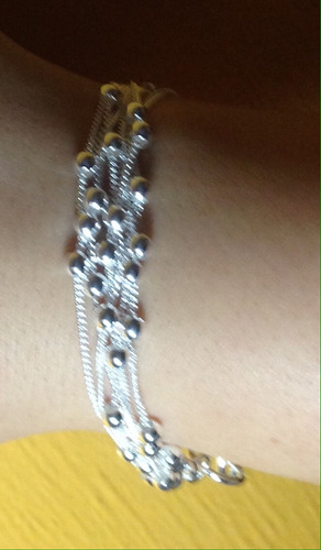 pulsera bañada en plata 925