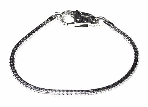 pulsera baño plata 925 vintage diseño beads charms joyas