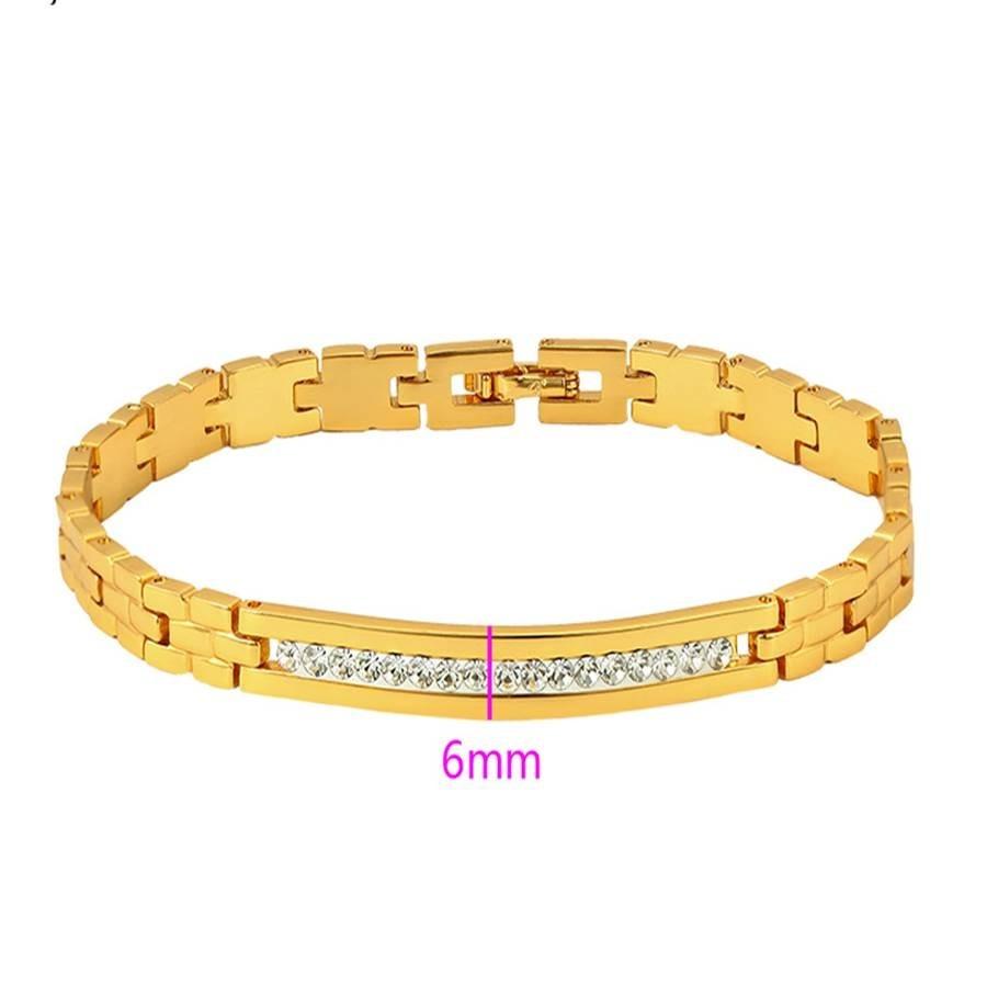 c76ecad7d31d pulsera brazalete cadena chapa oro24k czjoyería fina regalo. Cargando zoom.