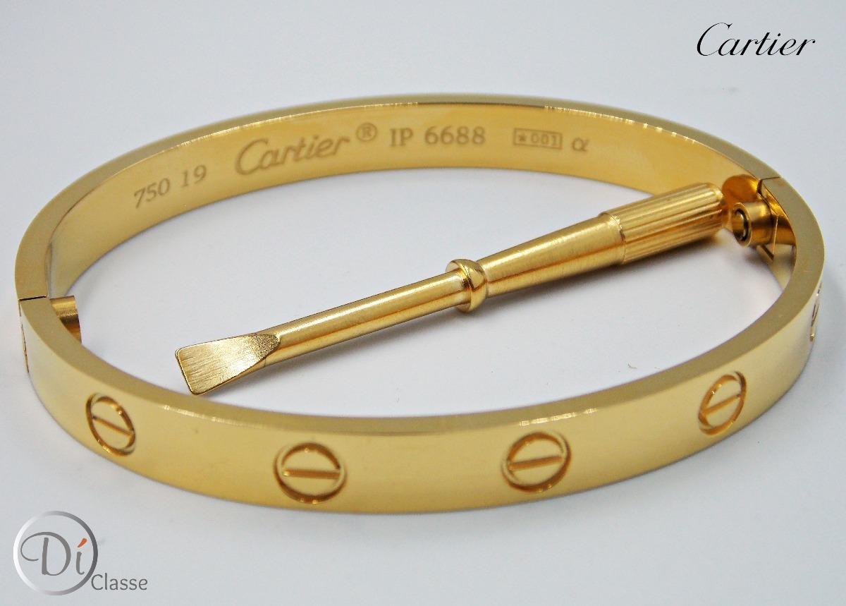 208b7c450a1 pulsera brazalete cartier love unisex en color oro king. Cargando zoom.