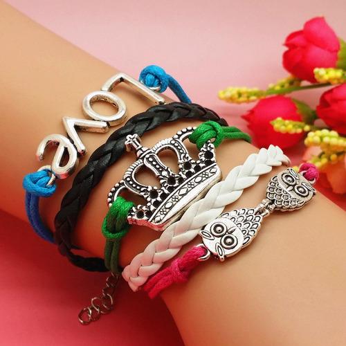 pulsera brazalete  corona love