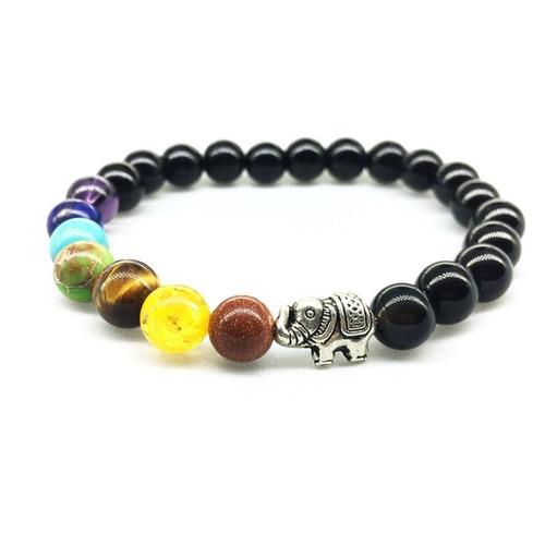 pulsera brazalete de chakras edición elefante yoga tibet