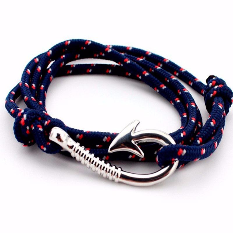 b4053a751f46 pulsera brazalete de cuerda con ancla nautica azul unisex. Cargando zoom.