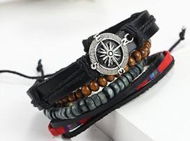 pulsera brazalete de cuero hombre / originales importadas