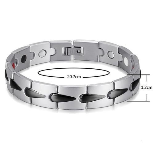 pulsera brazalete de energia  modelo flash en acero inox