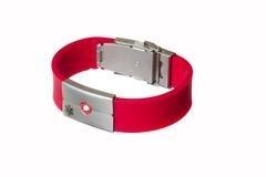 fd9418ab9e9d Pulsera Brazalete Qr Identificacion Medica Rojo -   799.00 en ...