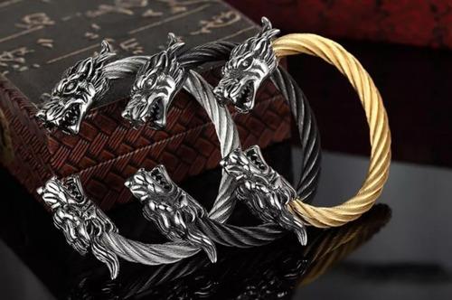 pulsera brazalete serie vikings acero inoxidable premium