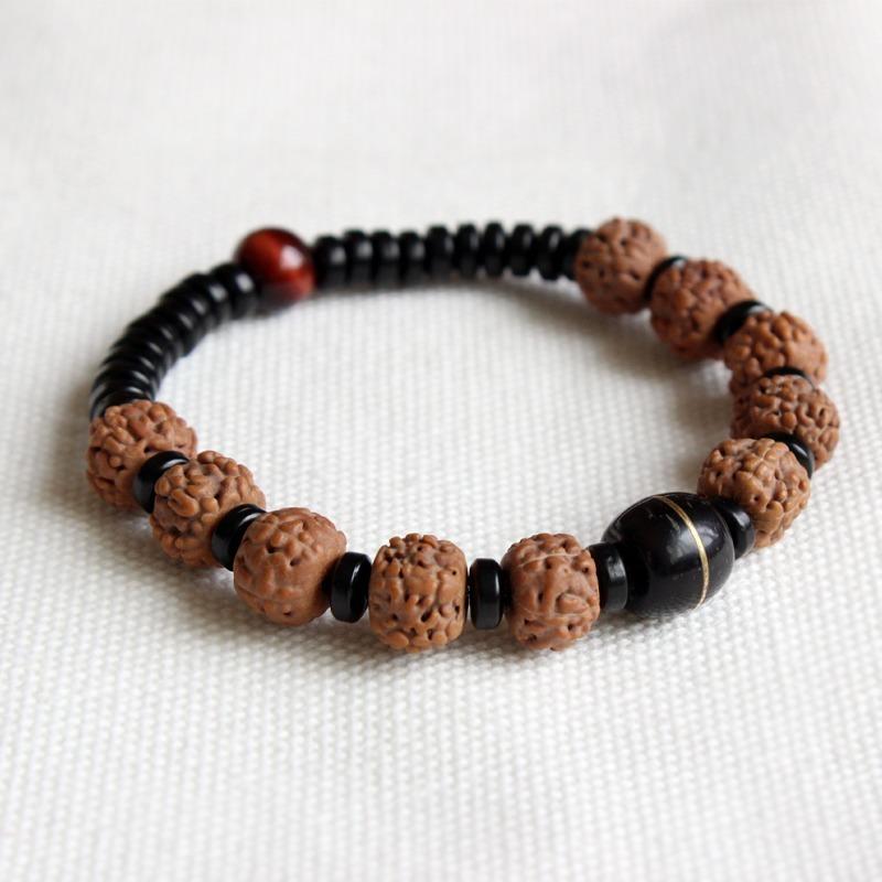 comprar popular a29c4 dd923 Pulsera Budista Tibetana Ojo Del Tigre Natural Rudraksha