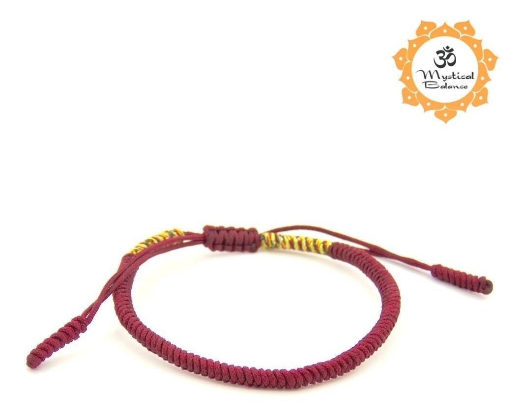 San Francisco 49661 f5156 Pulsera Budista Tibetana Suerte Dinero Amuleto Energía Balance Amor Hecha A  Mano Original Autentica