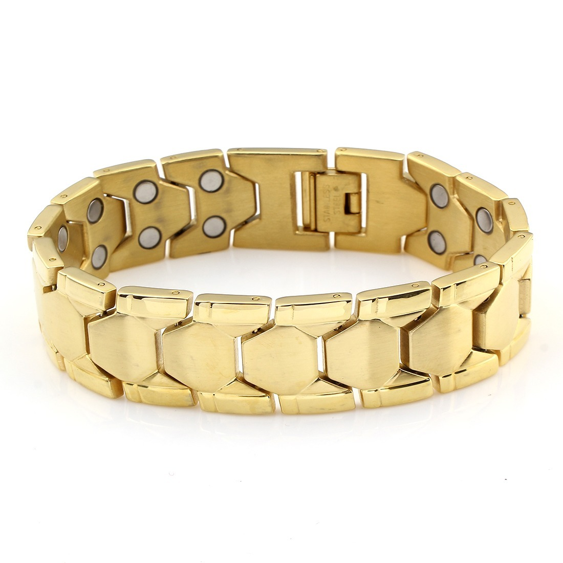 1926f51871c2 pulsera caballero 45 enchapado en oro 18k + envío gratis. Cargando zoom.