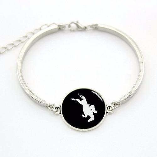 pulsera caballo saltando equitación regalo exclusivo p-007