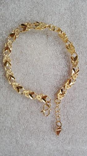 pulsera chapa de oro 18 k