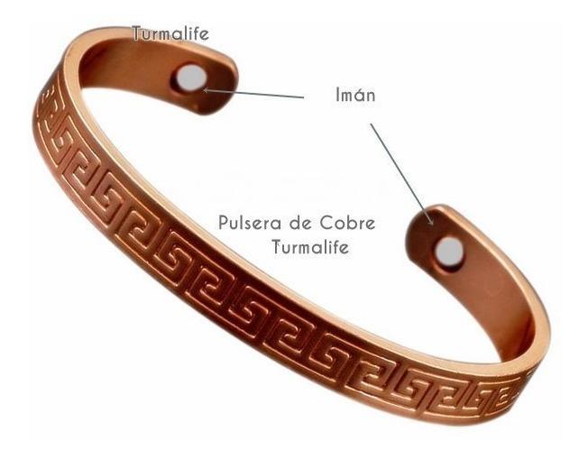 e52ce1458401 Pulsera Cobre 2 Imanes Por Dentro Saludable