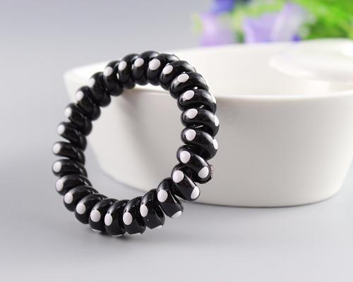 pulsera colita cable de teléfono bolsa x 50 und color negro