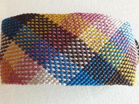 c27ec81c5653 Pulsera Colores Entrelazado Cuadrado Macrame Hilo Encerado
