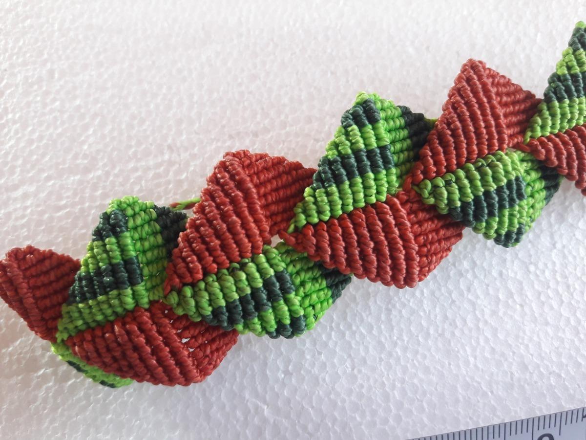 d7da06b5085b Pulsera Colores Modelo Escamas Macrame Hilo Encerado