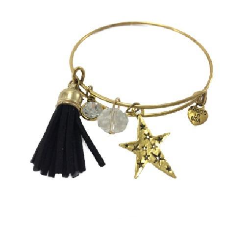 Pulsera Con Colgantes, Linea Fashion Color Dorado. - $ 39.00 en ...