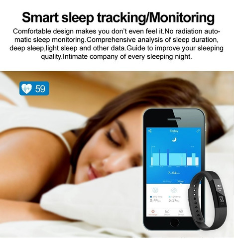 pulsera con monitor cardiaco, calorías, pasos. garantia 1año