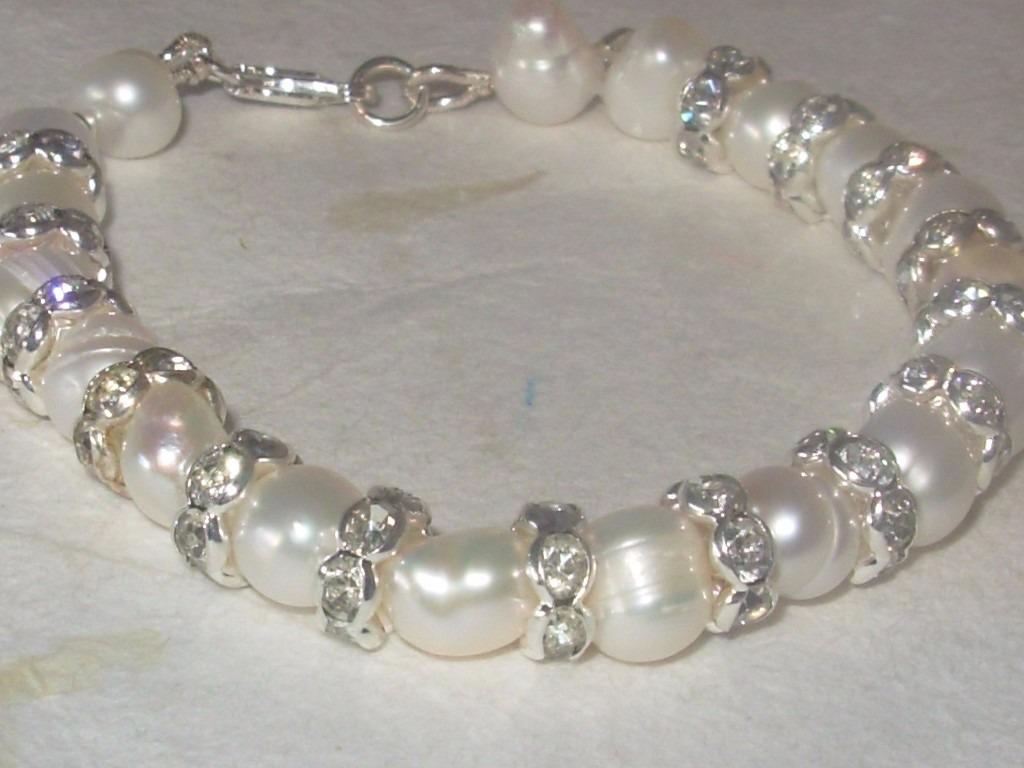 99aea09969ea pulsera con perlas naturales y cultivadas con plata. Cargando zoom.