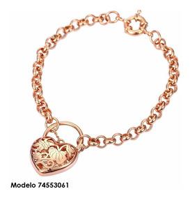 3b09cc6a4ba6 Pulsera Corazón Oro Rosa 18k Lam Tipo Tous Envio Gratis
