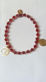 a25e50d879b8 Pulsera Cristal Swarovski Rojo Para El Éxito Y Protección