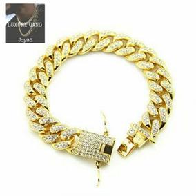 aed0d8e6fc53 Pulsera Cubana Oro Con Diamante - Joyas y Relojes en Mercado Libre Argentina