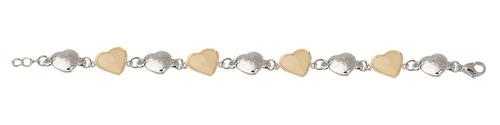 pulsera de acero corazones mod. p2014b