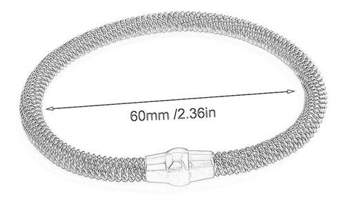 pulsera de acero inoxidable con cable de resorte de las muje