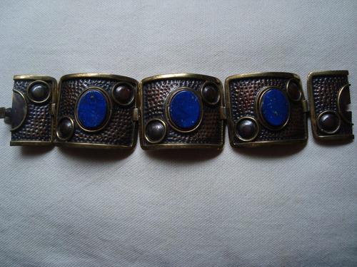 pulsera de cobre-lapislázuli importada envio gratis cuotas!!