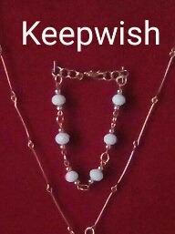 pulsera de cristales y balines 100% original de keepwish