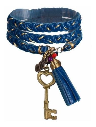 pulsera de cuero dije llave joyería budista tibetana yoga